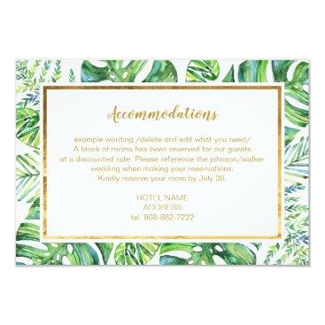 Watercolor Exotic Plants Details Card