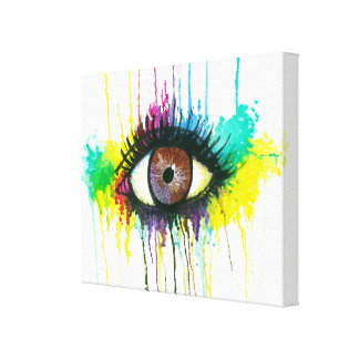 Watercolor Eye Canvas Print