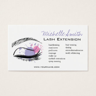 Watercolor eye eyelashes Lash extension icon Business Card