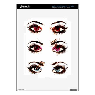Watercolor eyes iPad 3 decal