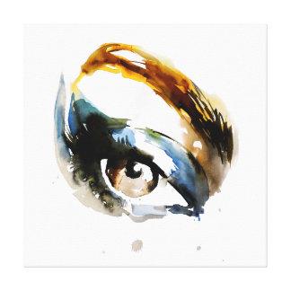 Watercolor eyes lash extension makeup branding canvas print
