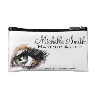 Watercolor eyes lash extension makeup branding cosmetic bag