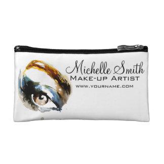Watercolor eyes lash extension makeup branding makeup bag
