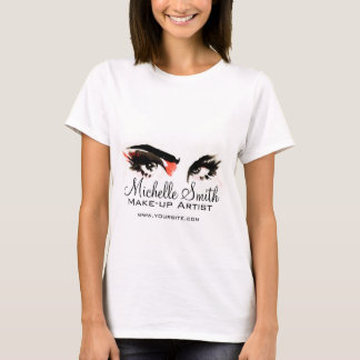 Watercolor eyes lash extension makeup branding T-Shirt