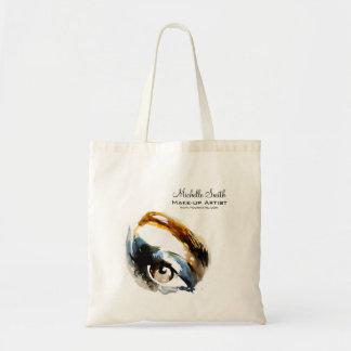 Watercolor eyes lash extension makeup branding tote bag