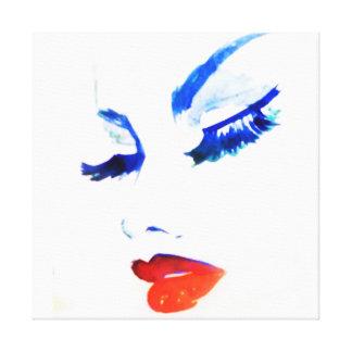 Watercolor face makeup artist branding canvas print