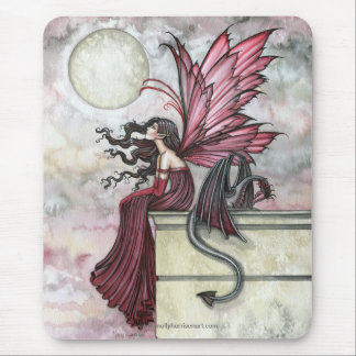 Watercolor Fairy Dragon Art Mousepad