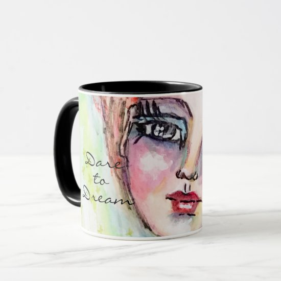 Watercolor Fairy Fun Whimsical Girl Colorful Dream Mug