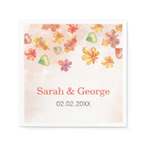 Watercolor Fall Leaves Fall personalized napkins