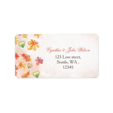 Watercolor Fall Leaves Fall wedding address label