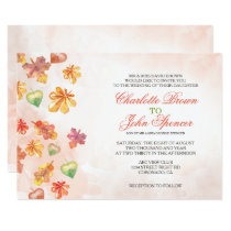 Watercolor Fall Leaves Fall wedding invitations