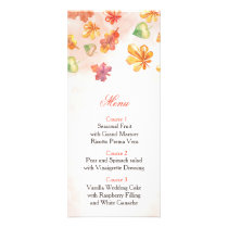 Watercolor Fall Leaves Fall wedding menu
