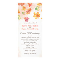 Watercolor Fall Leaves Fall wedding programs