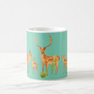 Watercolor Fallow Deer Family Mug
