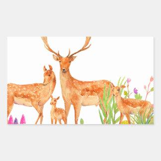 Watercolor Fallow Deer Family Sticker