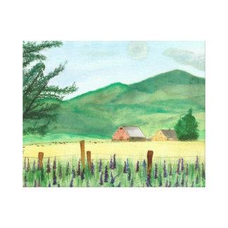 watercolor, farm canvas print