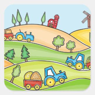 Watercolor Farm Land Sticker