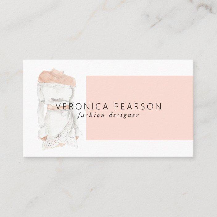 Watercolor Fashion Design Illustration Business Business Card Zazzle Com