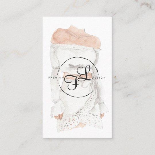 Watercolor Fashion Design Illustration Business Card Zazzle Com