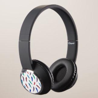 Watercolor Feathers Beebop Bluetooth Headphones