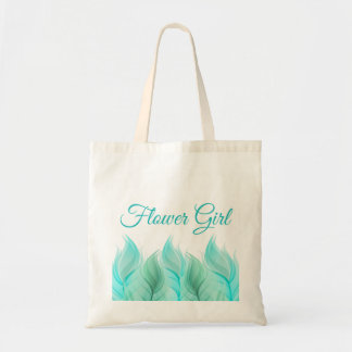 Watercolor Feathers Flower Girl Budget Tote Bag