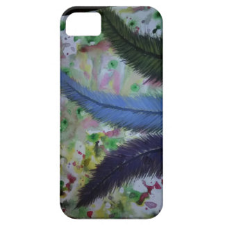 watercolor feathers iPhone SE/5/5s case