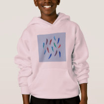 Watercolor Feathers Kids' Hoodie