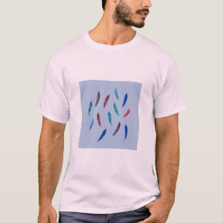 Watercolor Feathers Men's Basic T-Shirt