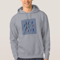 Watercolor Feathers Men's Hooded Sweatshirt