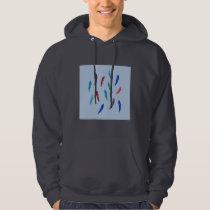 Watercolor Feathers Men's Hooded Sweatshirt