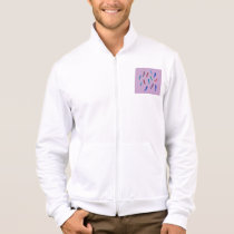 Watercolor Feathers Men's Zip Jogger Jacket