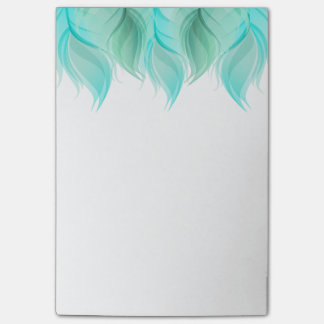 Watercolor Feathers Modern Post-it Notes