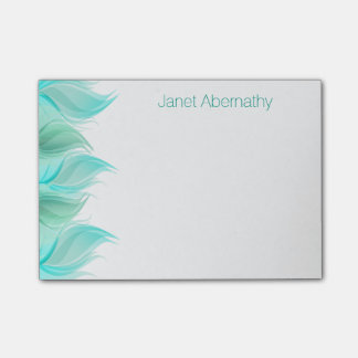 Watercolor Feathers Personalized Post-it® Notes