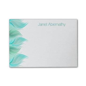 oasis_landing Watercolor Feathers Personalized Post-it® Notes