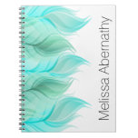 Watercolor Feathers Personalized Spiral Notebook
