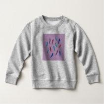 Watercolor Feathers Toddler Sweatshirt