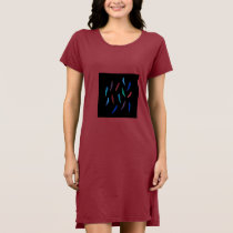 Watercolor Feathers Women's T-Shirt Dress