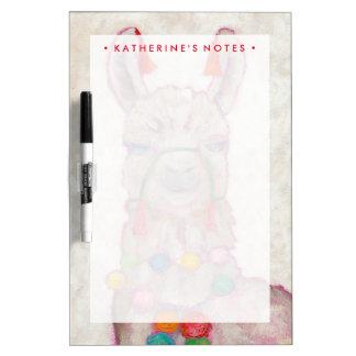 Watercolor Festival Llama Dry-Erase Board