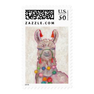 Watercolor Festival Llama Postage