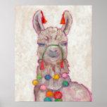"Watercolor Festival Llama Poster<br><div class=""desc"">Festival Llama Artist: Chariklia Zarris</div>"