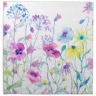 Watercolor Field of Pastel, Wildflower Meadow Napkin