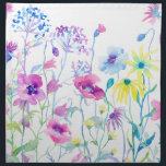 "Watercolor Field of Pastel, Wildflower Meadow Napkin<br><div class=""desc"">Watercolor Field of Pastel,  Wildflower Meadow by the watercolor artist Cheng Jing. Watercolor flowers,  pink,  blue and purple flowers,  wildflower meadow.</div>"