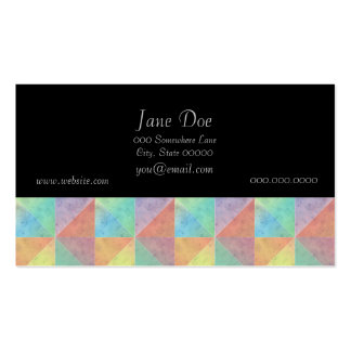 Watercolor Filled Triangle Geometric Pattern Business Card