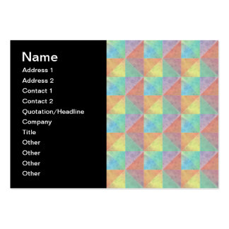 Watercolor Filled Triangle Geometric Pattern Large Business Card