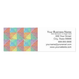 Watercolor Filled Triangle Geometric Pattern Mini Business Card