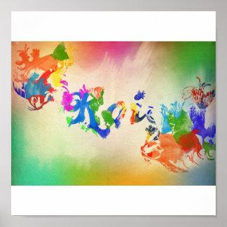 watercolor fish koi 2 poster