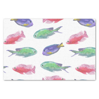 Watercolor Fish Pattern Tissue Paper