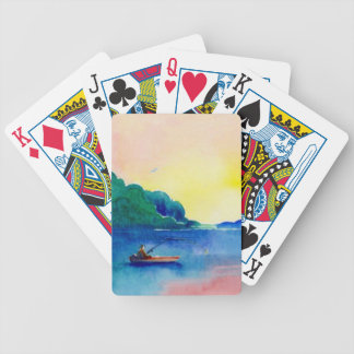Watercolor Fishing Lake Cottage Cabin Camp Cards