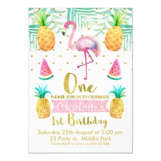Flamingo Birthday Invitations Announcements Zazzle