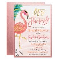 Watercolor Flamingo Bridal Shower Invitation